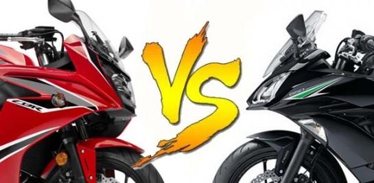 Honda CBR650F VS Kawasaki Ninja 650