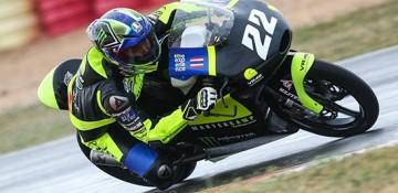 """คนมีของ!!! """"แสตมป์"""" อภิวัฒน์ ประกาศศักดาฝีมือเด็กไทย ติดท็อปเท็นศึก CEV moto3 ชิงแชมป์โลก สนามแรก"""