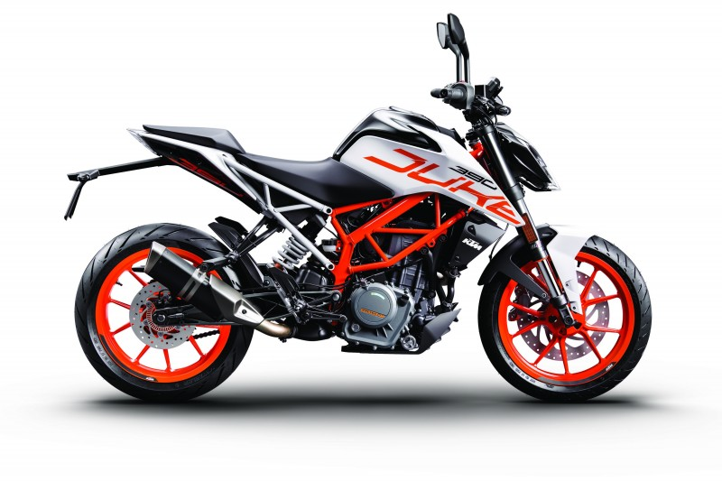 KTM 390 DUKE White ABS 90right MY 2017