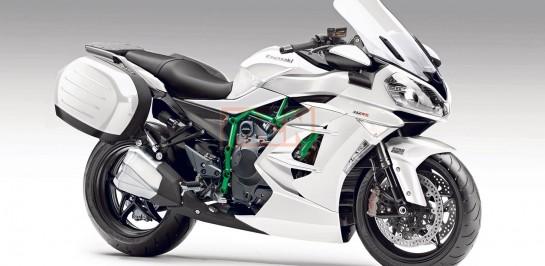 """Kawasaki เตรียมเปิดตัวสุดยอดรถสปอร์ตทัวร์ริ่งขุมกำลังแบบ """"ซุปเปอร์ชาร์จ"""" Ninja H2 SX"""