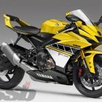 เผยภาพของ New Yamaha YZF-R9 เครื่องยนต์ 3 สูบแบบ Crossplane Crankshaft