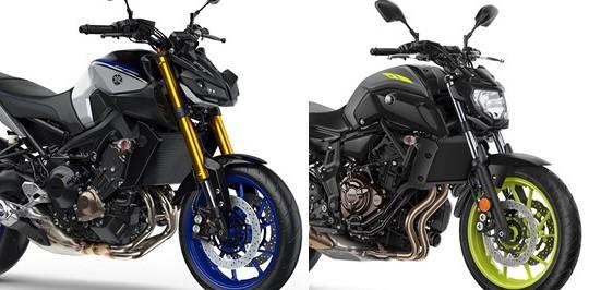 อัพเดทล่าสุดของ 2018 Yamaha MT-07 และ MT-09SP