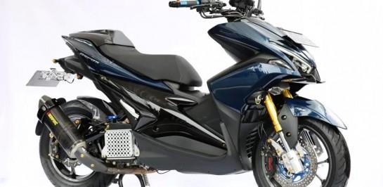 งาน Maxi Yamaha Customaxi งานประกวดการโมดิฟายรถจักรยานยนต์ของ Yamaha ที่ใหญ่ที่สุดในอินโดนิเซีย