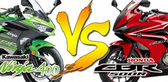 2018 All new Kawasaki Ninja 400 VS 2018 New Honda CBR500R