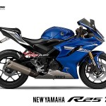 Render ล่าสุดของ 2018 Yamaha YZF-R25