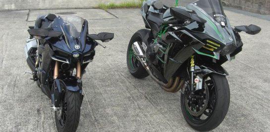 ร่างจำลอง Kawasaki Ninja H2 แบบย่อส่วนบน Kawasaki Z125 Pro
