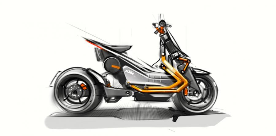 เผยถาพร่างใหม่ของสกูรเตอร์พลังงานไฟฟ้าจาก KTM