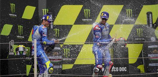 ซูซูกิ ขึ้นโพเดี่ยมยกทีม!!! การแข่งขัน MotoGP 2020 ที่คาตาลุนญ่า