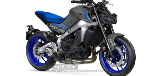 ชมภาพ render New Yamaha MT-09 แบบใส่ไฟหน้าเดิม!