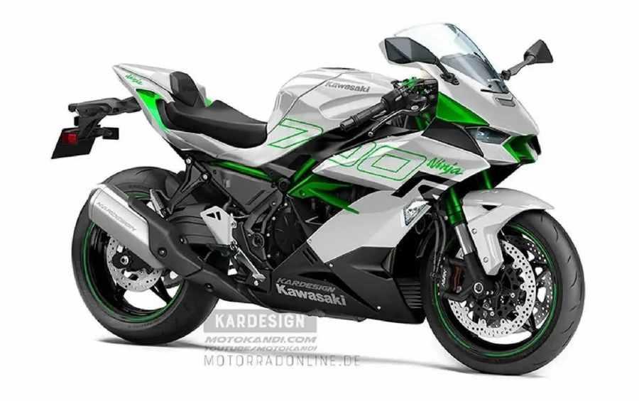 เรนเดอร์อย่างไม่เป็นทางการของ Kawasaki Ninja 700