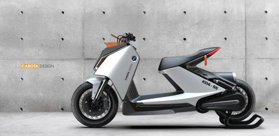 BMW K04-55 รถสกู๊ตเตอร์พลังงานไฟฟ้าแนวคิดที่อยู่ในความทรงจำ