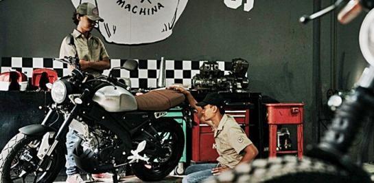 ชมภาพ Yamaha XSR155 Yard Built จากประเทศอินโดนีเซีย