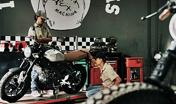 ชมภาพ Yamaha XSR155 Yard Built จากประเทศอินโดนิเซีย